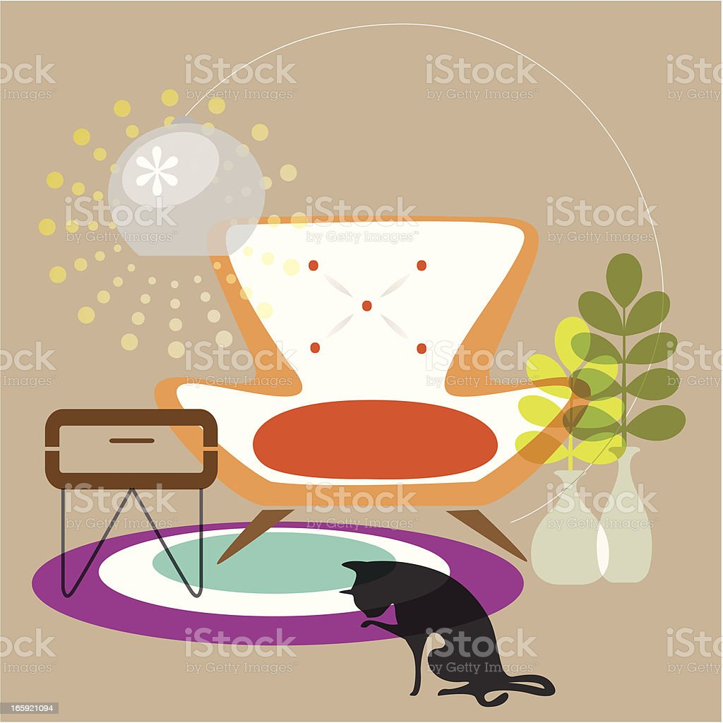 Delicious LIving (inteiror) vector art illustration