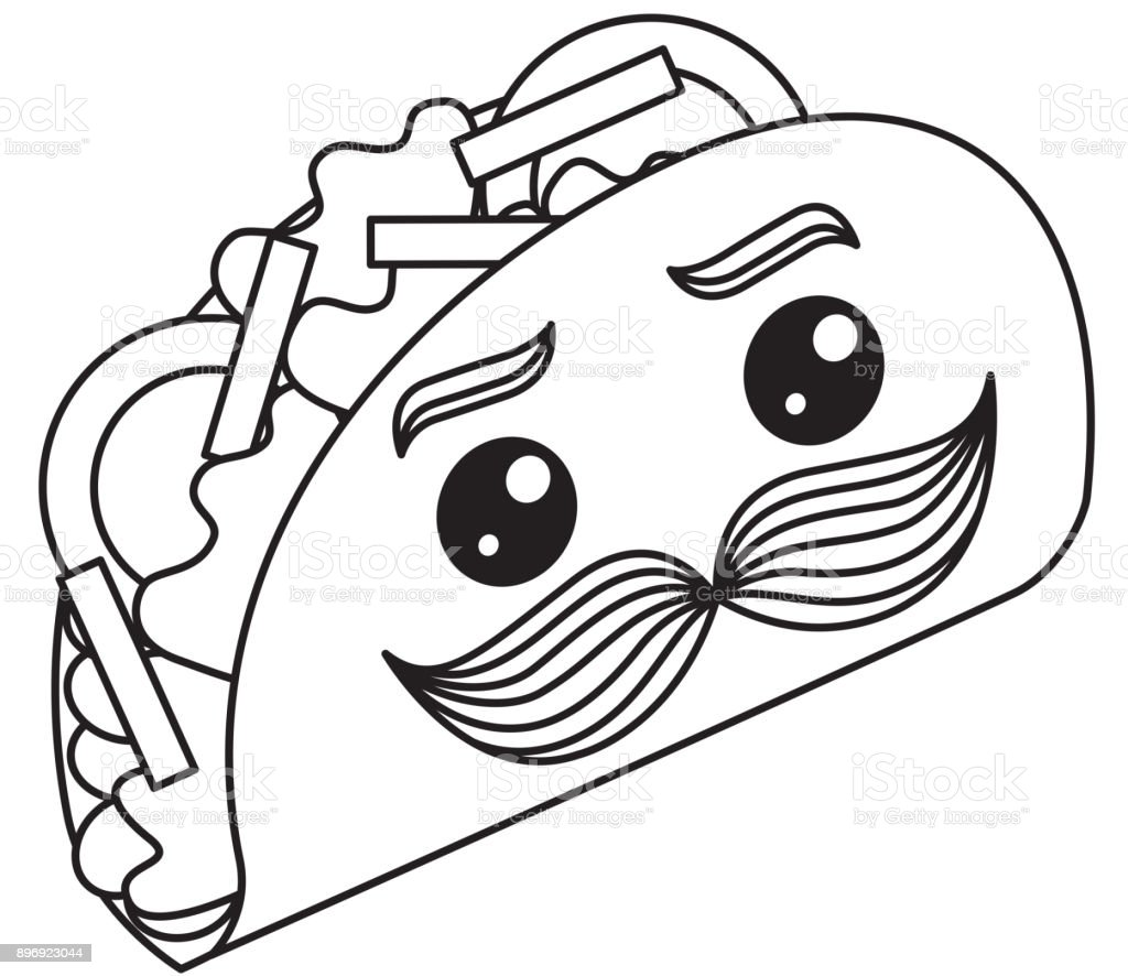 Clip Art Tacos With Mustaches