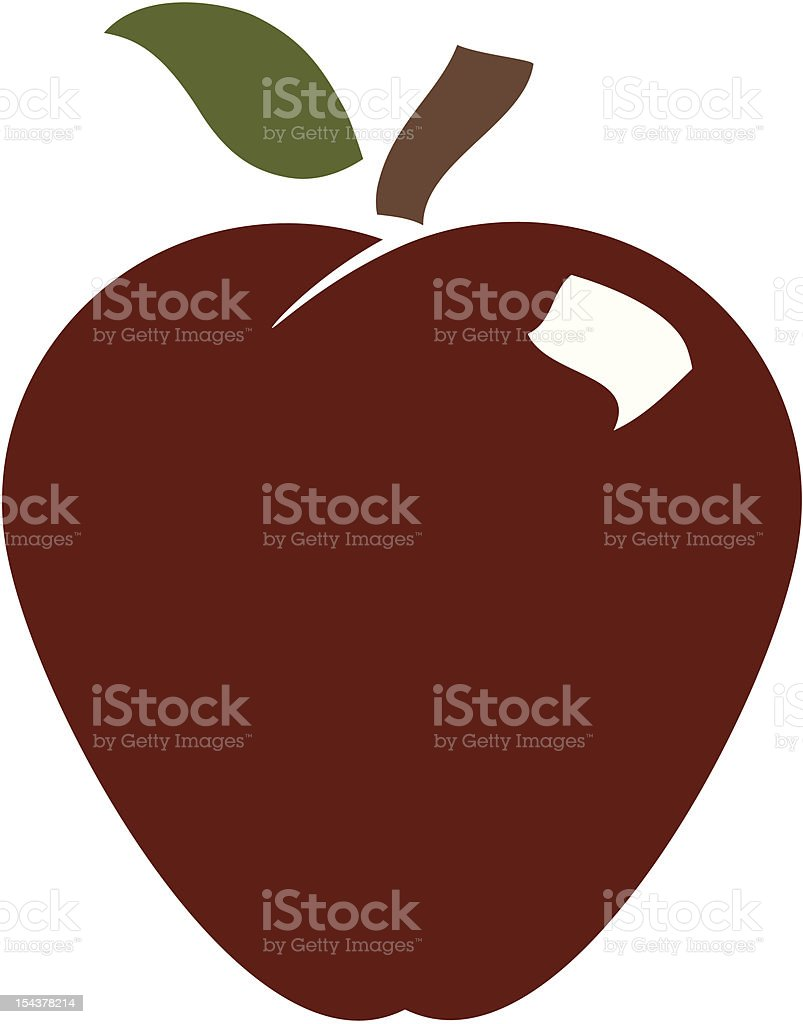 Delicious Red Apple royalty-free delicious red apple stock vector art & more images of apple - fruit