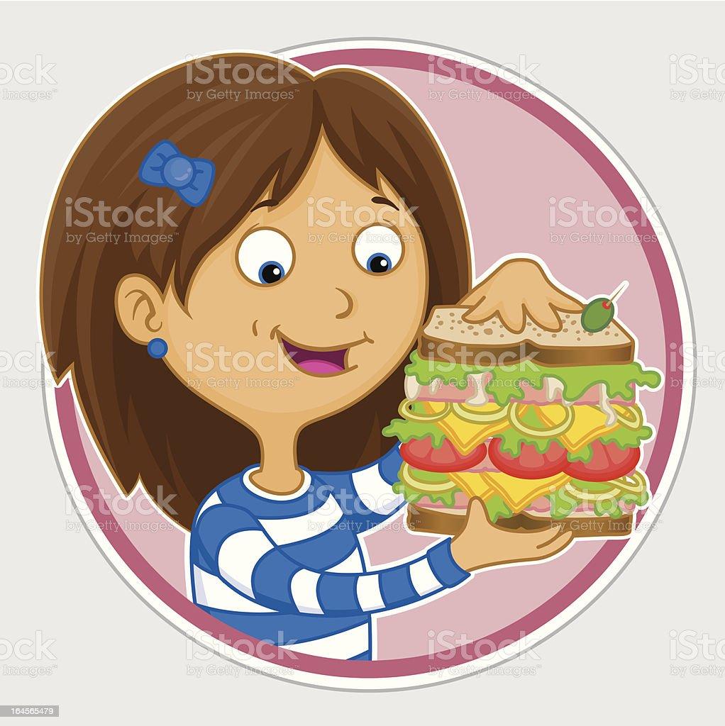 Delicious sandwich royalty-free stock vector art