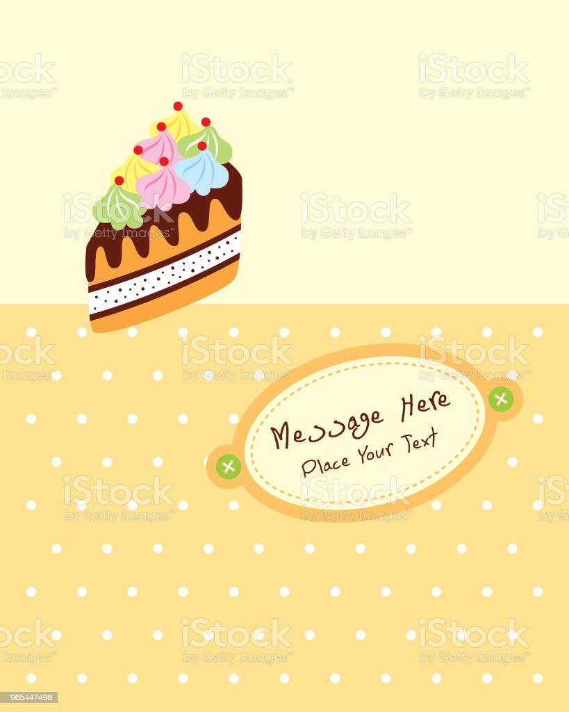delicious slice cake birthday greeting card delicious slice cake birthday greeting card - stockowe grafiki wektorowe i więcej obrazów baby shower royalty-free