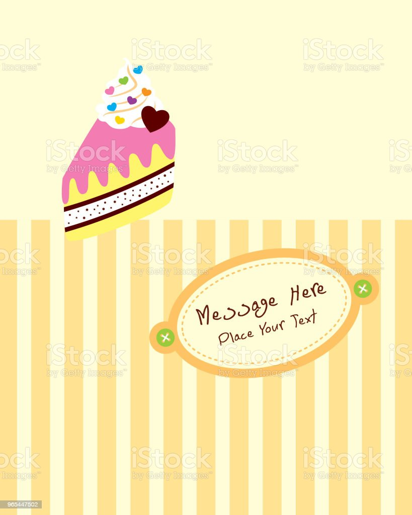 delicious slice cake birthday greeting card royalty-free delicious slice cake birthday greeting card stock vector art & more images of anniversary