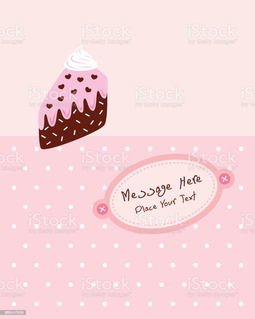 carte de voeux anniversaire tranche délicieux gâteau - clipart vectoriel de Acclamation de joie libre de droits