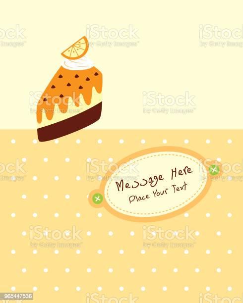 Vetores de Deliciosa Fatia De Bolo Aniversário Cartão e mais imagens de Amor