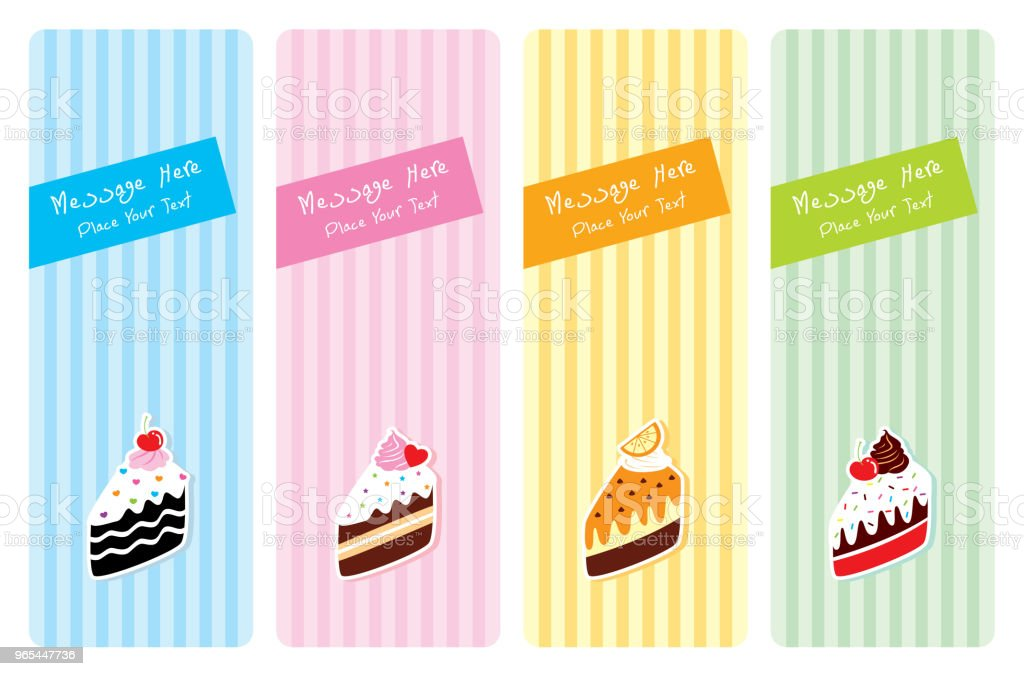 delicious slice cake greeting card set royalty-free delicious slice cake greeting card set stock vector art & more images of anniversary
