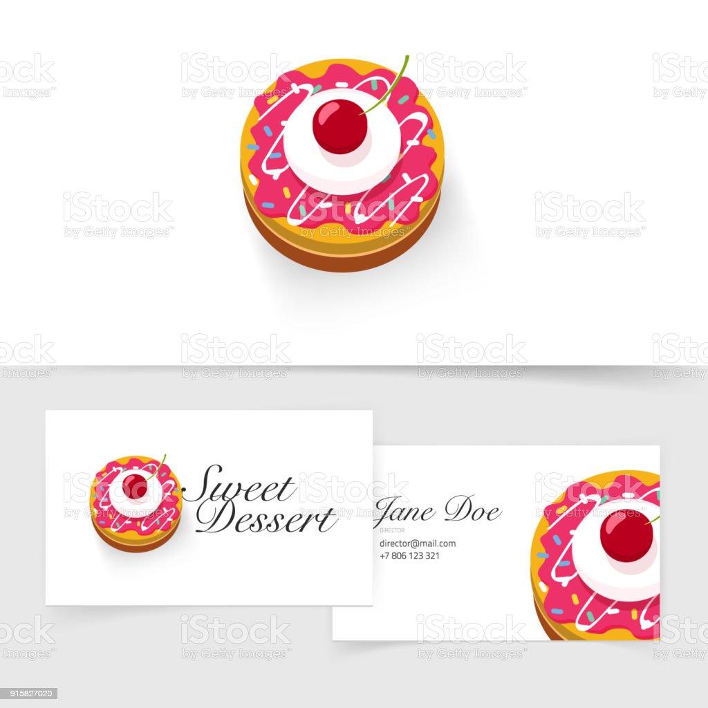 Delicieux Petit Gateau Avec Concept Vecteur Cerise Pour Licone Ou Un Logo Illustration