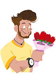 Delivering Flowers to Girlfriend on Valentine's Day