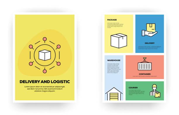Infographies relatives à la livraison et à la logistique - Illustration vectorielle