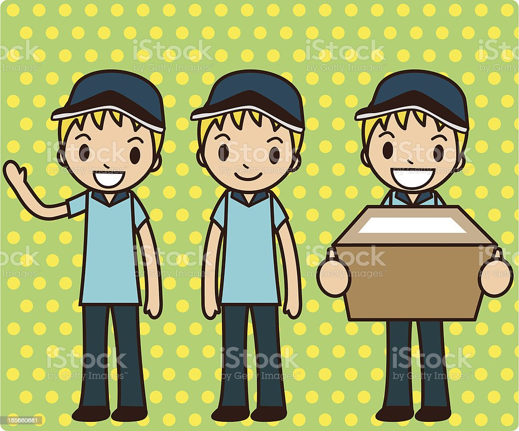 Delivery Boy royalty-free stock vector art