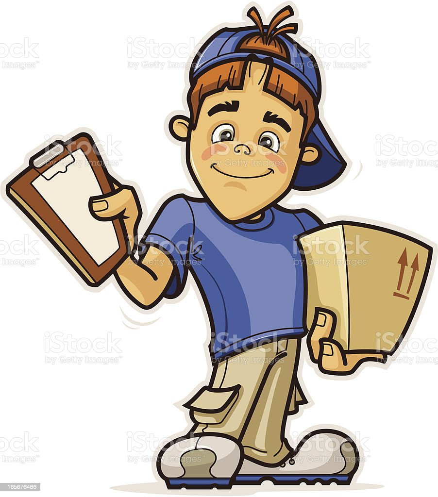 Delivery Boy - Royalty-free Adult stock vector