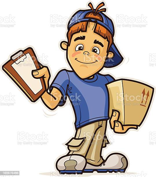 Delivery Boy Stock Illustration - Download Image Now