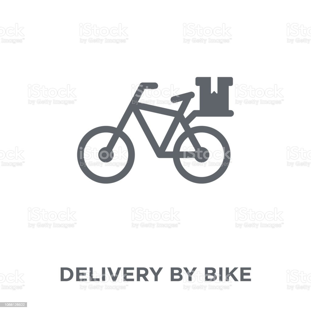 delivery by bike icon from Delivery and logistic collection. vector art illustration