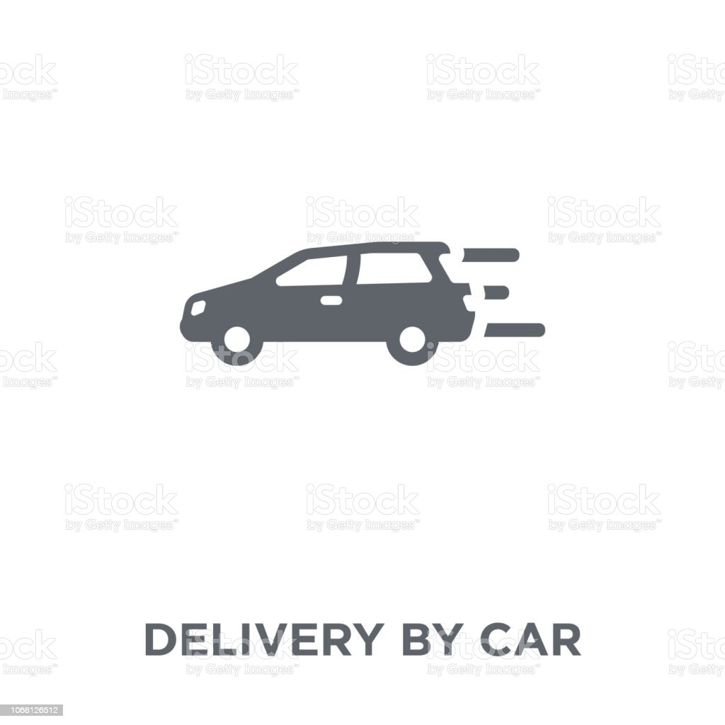 Delivery by car icon from Delivery and logistic collection. vector art illustration