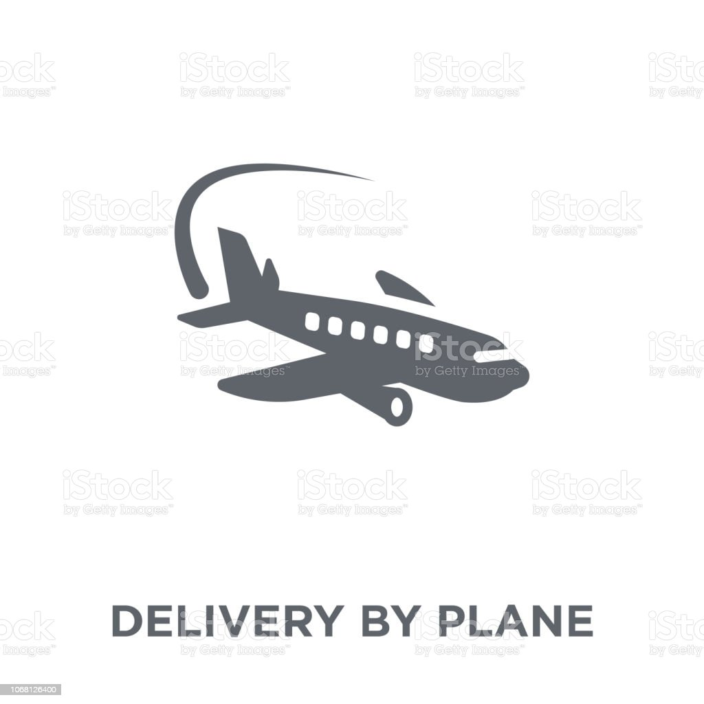 Delivery by Plane icon from Delivery and logistic collection. vector art illustration