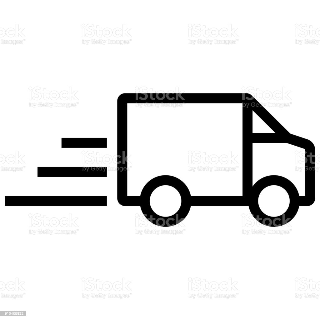 Delivery Car Icon Vector Stock Illustration