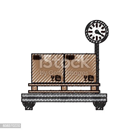 istock Delivery cardboard boxes 838370220