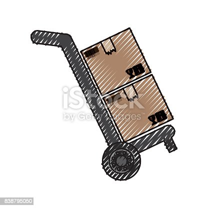 istock Delivery cardboard boxes 838795050