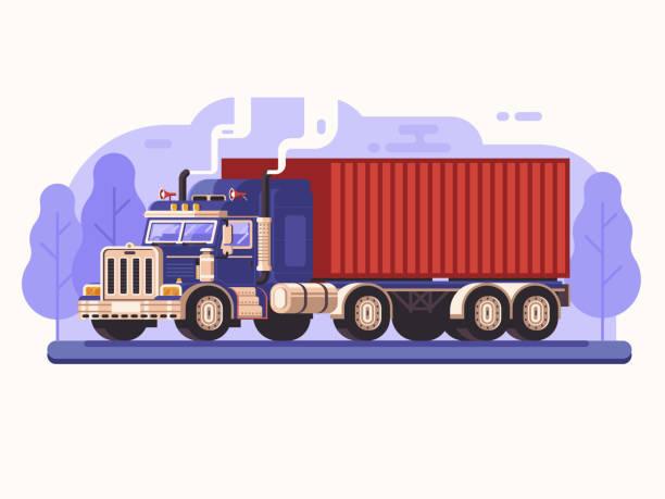 ilustraciones, imágenes clip art, dibujos animados e iconos de stock de camión de carga por carretera - conductor de autobús