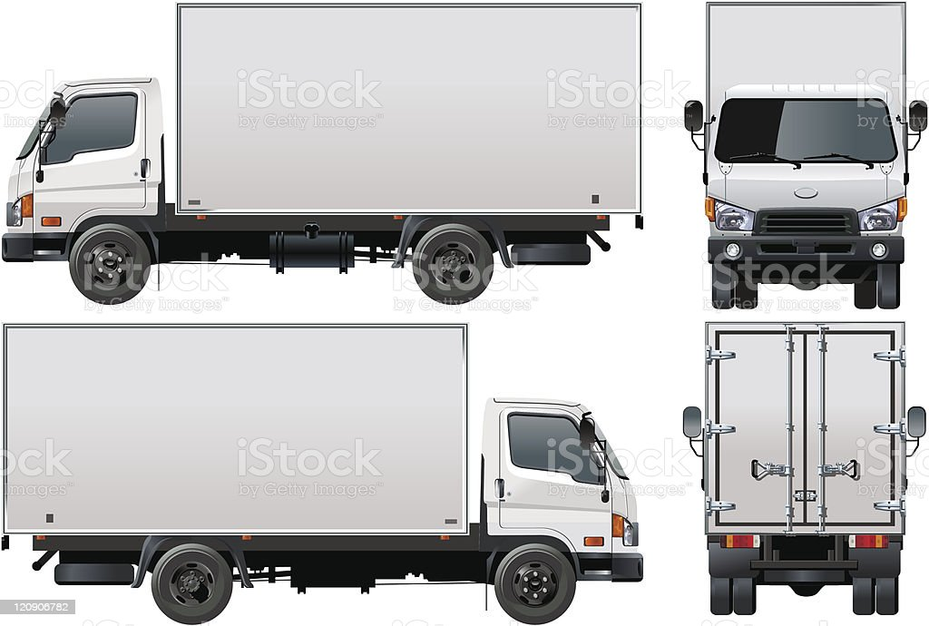 Delivery / cargo truck royalty-free stock vector art