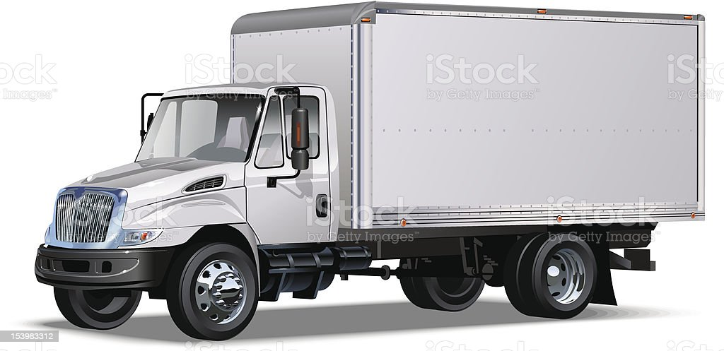 Delivery / cargo truck royalty-free delivery cargo truck stock vector art & more images of american culture