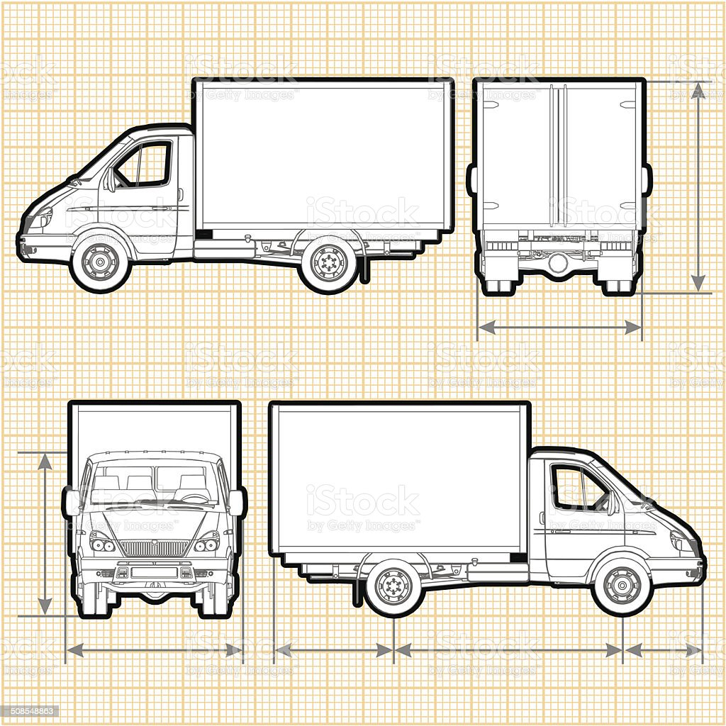 Delivery Cargo Truck vector art illustration