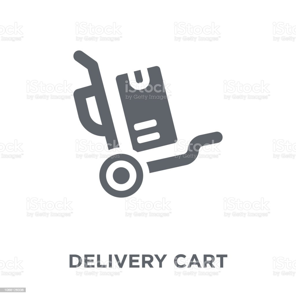 Delivery cart icon from Delivery and logistic collection. vector art illustration