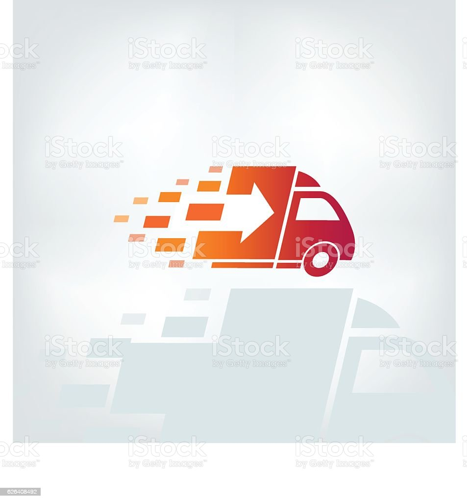 Delivery company logo. vector art illustration
