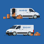 Delivery Concept. Delivery Truck. Vector illustration
