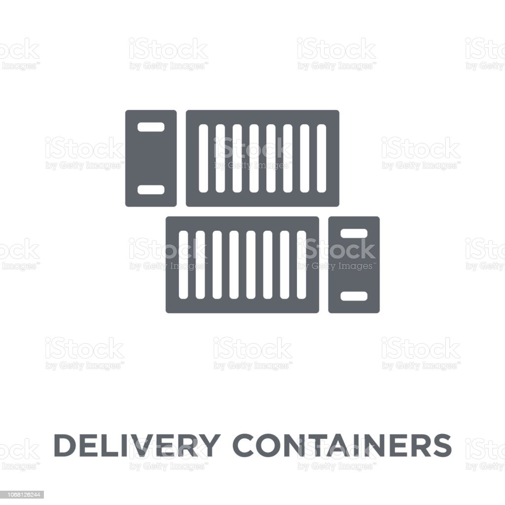 delivery containers icon from Delivery and logistic collection. vector art illustration