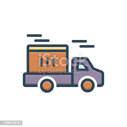 Icon for delivery, conveyance, carriage, transportation, transport, distribution, dispatch, remittance
