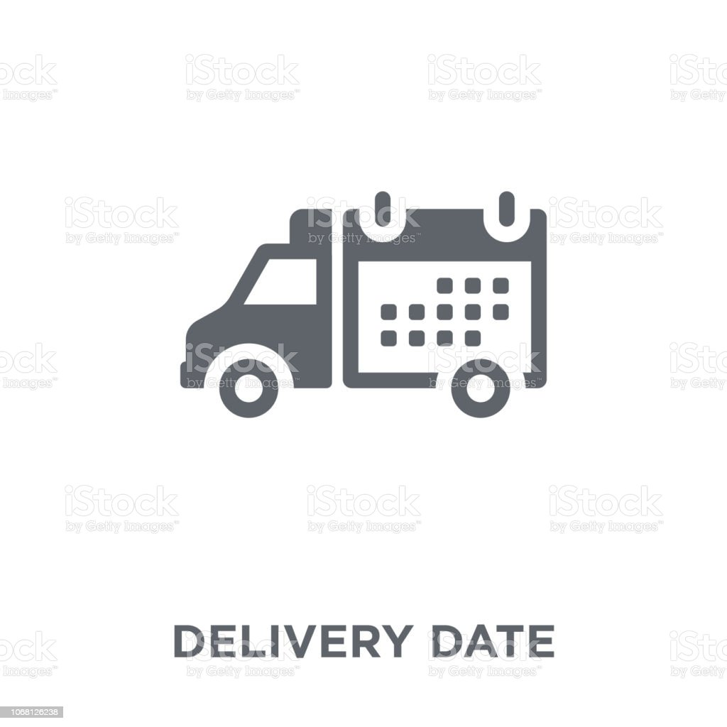 Delivery Date icon from Delivery and logistic collection. vector art illustration