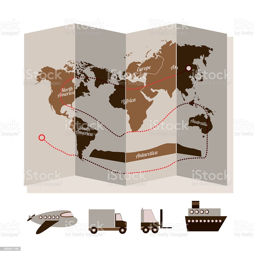 delivery design royalty-free stock vector art