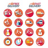 Shipping, Transport, Order, Service, Fast and Free