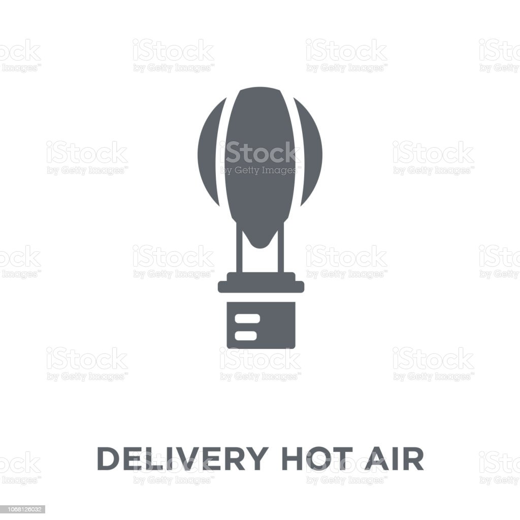 Delivery Hot air balloon icon from Delivery and logistic collection. vector art illustration