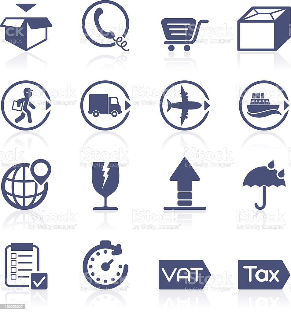 Delivery icon collection royalty-free stock vector art