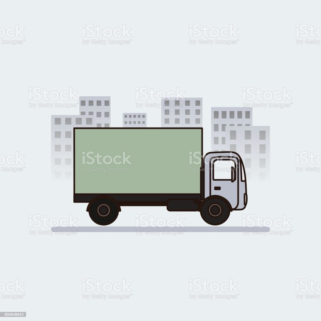 Delivery icon in flat style vector art illustration