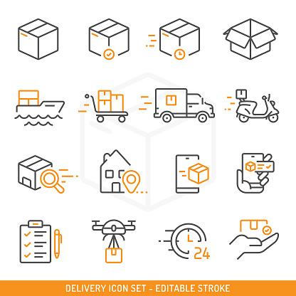 Delivery Icon Set Vector Design.