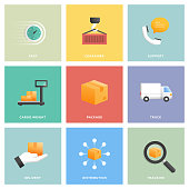 Delivery Icon Set Flat Design