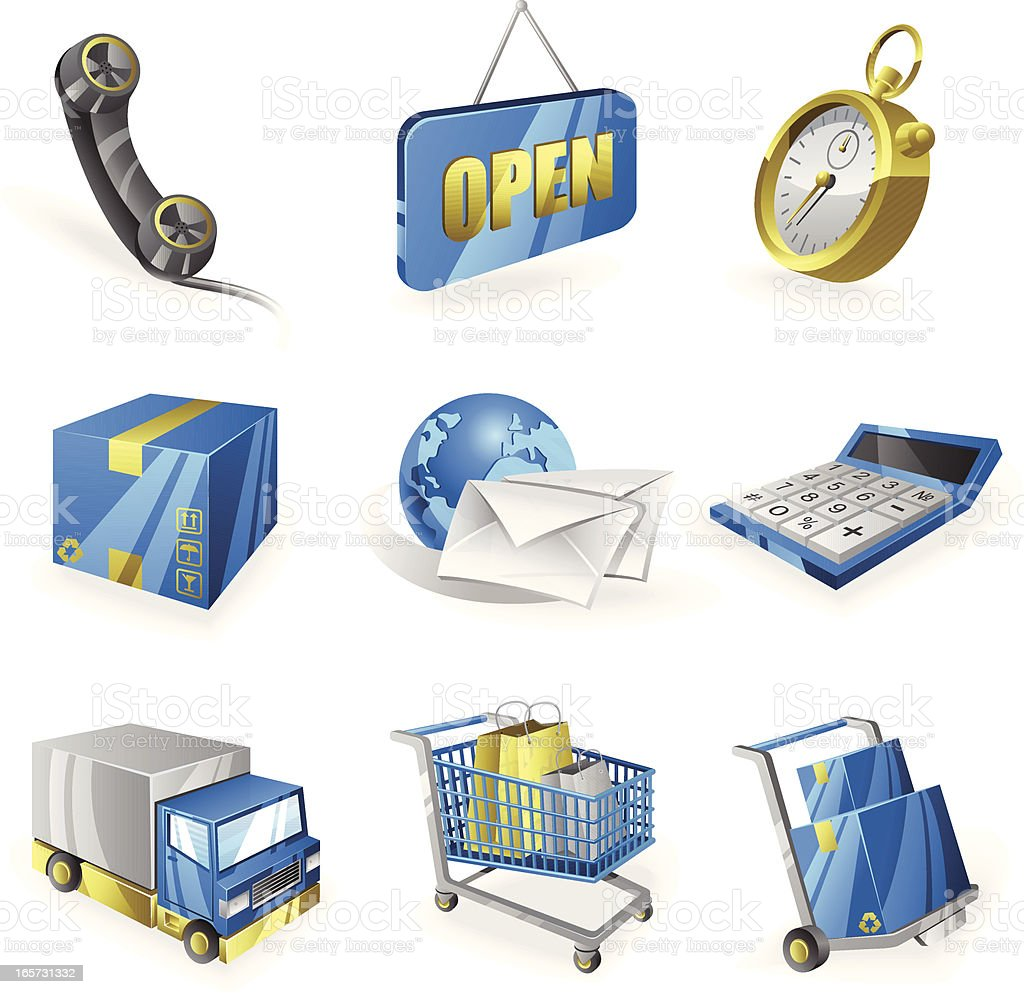 Delivery Icon Set royalty-free stock vector art