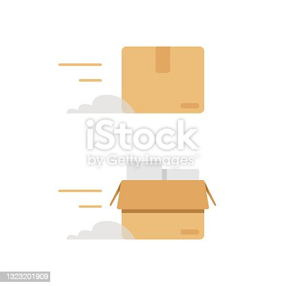 istock Delivery Icon. 1323201909