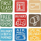 Delivery icons block icon set