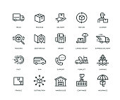Delivery Icons - Line Series
