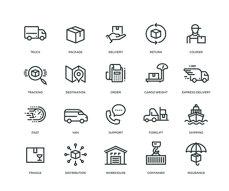 logistics stock illustrations