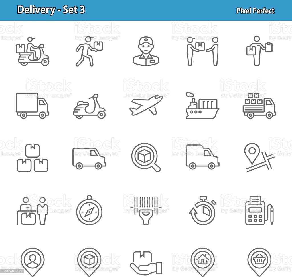 Delivery Icons - Set 3 vector art illustration