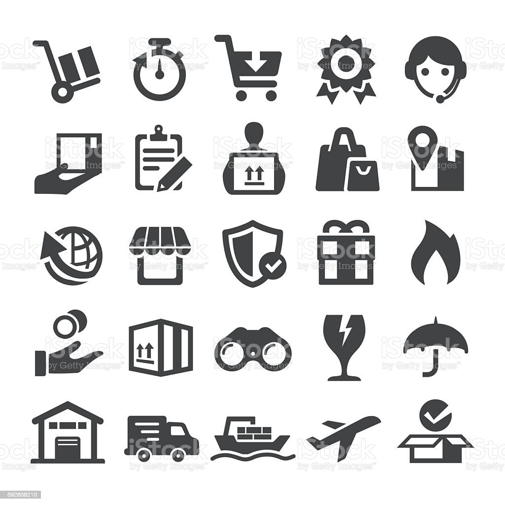 Delivery Icons - Smart Series vector art illustration
