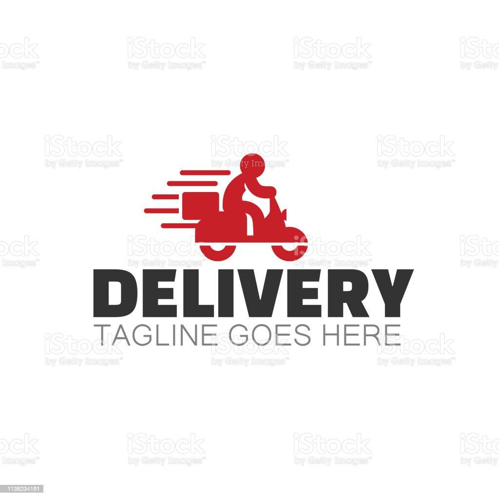 Delivery illustration - Grafika wektorowa royalty-free (Bez ludzi)