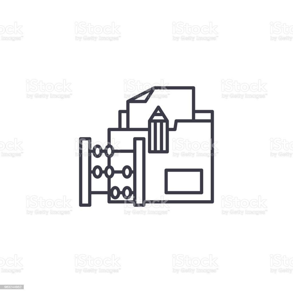 delivery invoice linear icon concept delivery invoice line vector