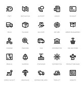 Delivery Line Icon Set