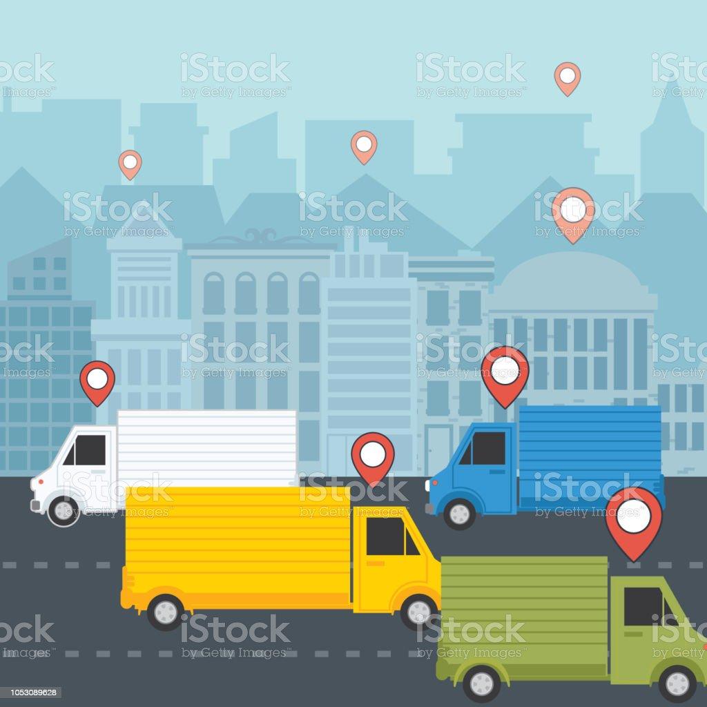 Delivery Logistics Concept vector art illustration