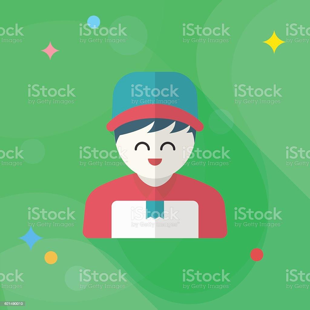 Delivery man phone icon delivery man phone icon - immagini vettoriali stock e altre immagini di addetto alle consegne royalty-free